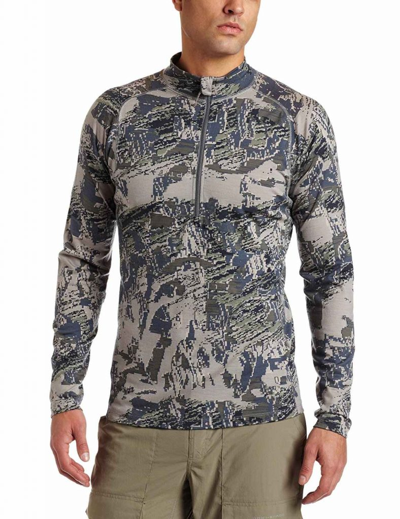 Sitka Men's Merino Core 1 Long Sleeve Zip Tee