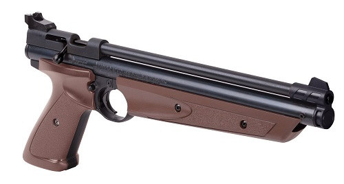 .177-Caliber Pneumatic Pellet Air Pistol, Brown