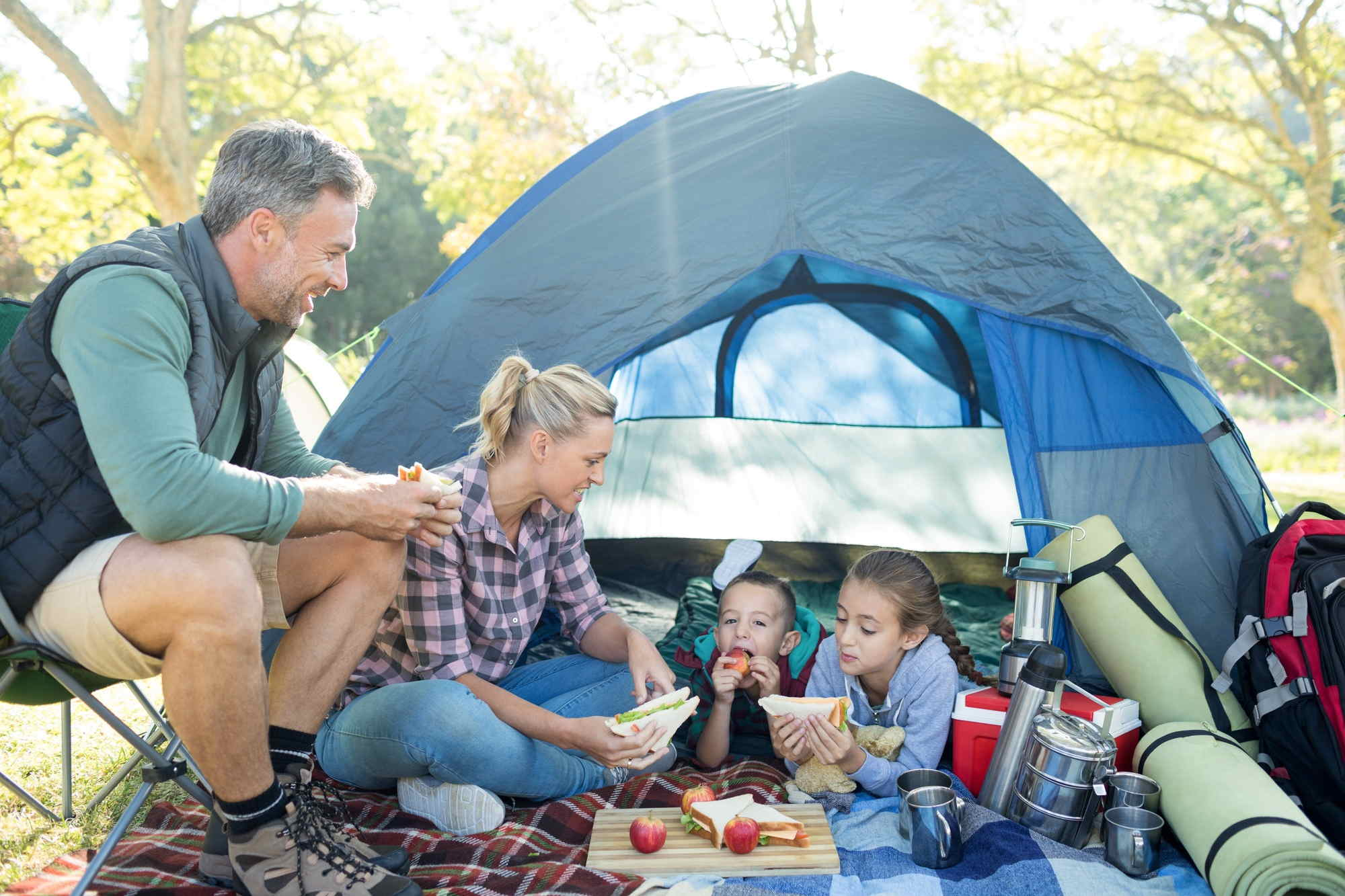 Kids Healthy While Camping