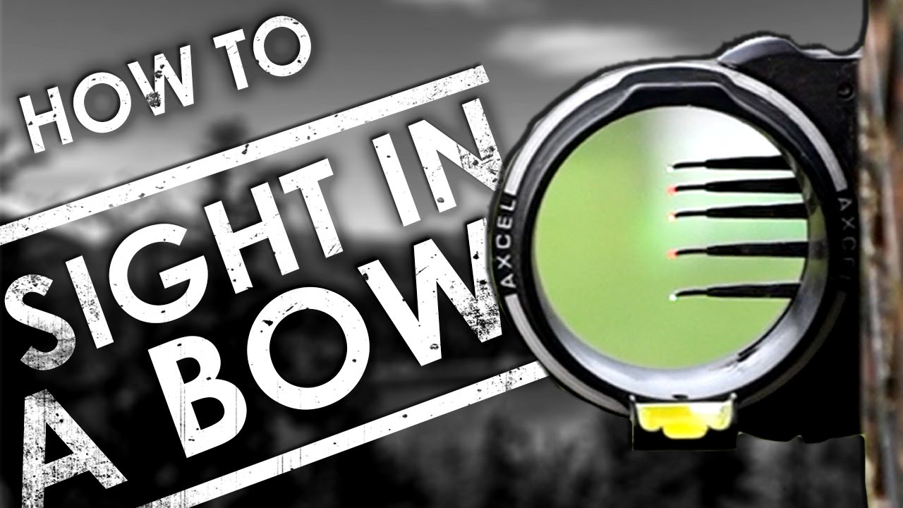How To Sighting in a Compound Bow With a Peep Sight