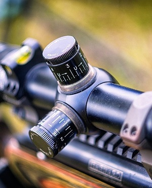 Variable air rifle scope